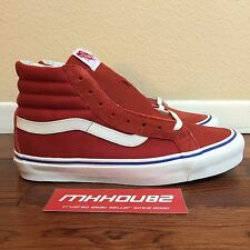 New Opening Ceremony Vans Vault OG Sk8-Hi LX Red Boss Nova Pack Shoes Size 1b41a257a2