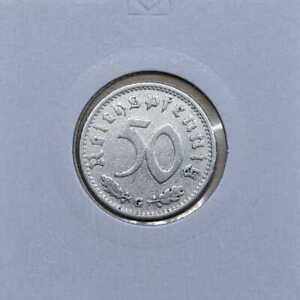50 Reich Pfennig Très Beau ( Choisissez Entre : 1939 - 1944 Et Abdefgj)
