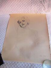 Nude Marilyn Monroe Signed Gary Saderup Print