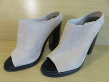 FAITH LIGHT PEACH SUEDE LEATHER HIGH BLOCKED HEELED PEEP TOED SHOES UK SIZE 5