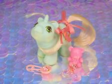 Vintage My Little Pony Newborn Twin JEBBER or Jabber Mint Green Pink G1 MLP (1)