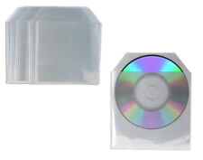 100 High Quality CD DVD Sleeves Plastic Cases Clear Poly Wallet Case Cover