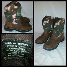 Women's Justin Gypsy Pink Camo western cowboy pull on boot sz 7 B L9913 cowgirl