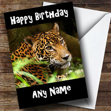 Leopard Personalised Birthday Greetings Card
