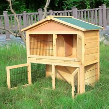 """Wooden 40"""" Cage Chicken Coop Rabbit Hutch Hen House Poultry Cage Pet Animal Run"""