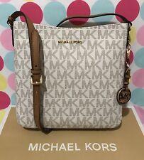 Michael Kors Jet Set Travel Vanilla/acrn LG Messenger Bag 35tgtvm3b