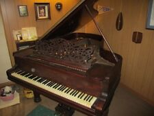 BEAUTIFUL STEINWAY AND SONS MAHOGANY GRAND PIANO MODEL B FLOWER POT