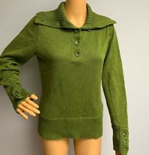 Talbots Womens Small Green Pullover Long Sleeve Sweater Shirt Top