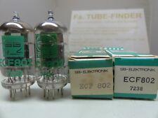 2x ECF802 SB TUBE - RÖHRE - VALVULA. OWN BOX NOS/NEW/NIB