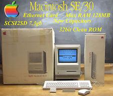  OUTSTANDING 1989 Apple Macintosh Mac se/30 MAX RAM, SCSI2SD 7.3gb, in BOX