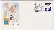 (ICF175) 1986 AU Cover 36c Papal visit Special cancel (F)