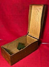 Antique Vintage Weis Oak Wood Dovetailed Index 4x6 Recipe Card Catalog File Box