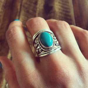 Sleeping Beauty Turquoise Ring 925 Sterling Silver Ring All Size VS-725