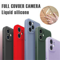 For iPhone 11 Pro Max Liquid Silicone Case Camera Lens Full Protection Cover