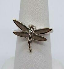 Tiffany & Co. 18k White Gold Genuine Old European Diamond Dragonfly Ring w/Box