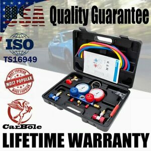R134A R404A R22 R410A HVAC A/C Refrigeration Kit AC Manifold Gauge Charging Set