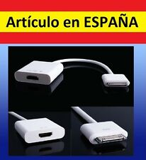 CABLE ADAPTADOR MHL de HDMI hembra a IPHONE macho apple ipad ipod antiguo movil
