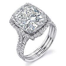 2.16ct Cushion Cut Diamond Halo Engagement Ring E/VVS1