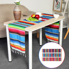 84x14'' Mexican Serape Table Runner Tablecloth Cotton Festival Party Home Decor