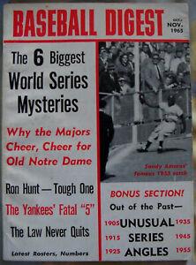 BASEBALL DIGEST Oct-Nov 1965