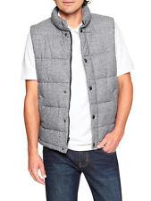 7214-2 Banana Republic Men's Gray Grey Knit Puffer Vest Jacket Large L $89
