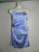 Davids Bridal Dress Plus Size 26 Bluebird Strapless 84835 Bridesmaid Crumb NWT
