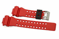 16MM RED BLACK RUBBER WATCH BAND FOR CASIO GSHOCK GA300 GA100 GW8900 GA120 GD110