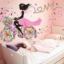 Vinyl Decal Home Mural Room Decor Girl Flower Butterfly Removable Wall Stickers: