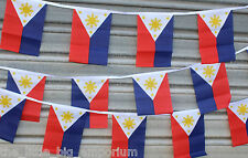 Philippines 9 Metres Long 30 Flag Banner String Bunting Filipino Flags