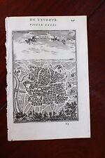 ✒ 1683 MANESSON MALLET Ville de MADRID plan belle gravure