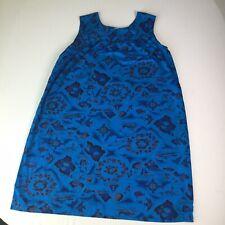 Vintage 60s Ui-Maikai Hawaiian Dress 100 cotton Maxi Mod island fish