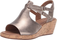 Clarks Ladies Sandals UN PLAZA WAY Gold Metallic UK 6 / 39.5