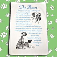 Boxer Dog Origins Breed Microfibre Tea Towel - Ideal Gift