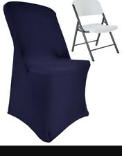 4 New Lifetime Folding Spandex Chair Cover Navy Blue 633-23