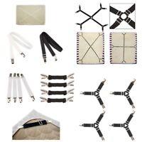 2/4x Bed Suspender Strap Mattress Fastener Holder Triangle Grippers Sheet Clips
