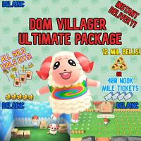 Animal Crossing New Horizons DOM Villager + 12 MIL or 400 TICKETS + BONUS !