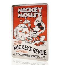 WALL SIGN Mickey Mouse CLASSIC Vintage Retro Poster Home Bed DECOR Wall Rusted