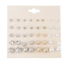 Set di gioielli a forma di orecchini con perle a sfera in cristallo