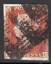 QV 1841  SG8  1d RED-BROWN IMPERF  PL 150    LETTERS FC   Good Used