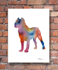 Cane Corso Abstract Contemporary Watercolor Art 11 x 14 Print by Djr
