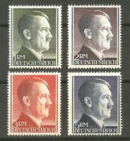 Germany Nazi WWII Rare WW2 MNH Stamps K14 Hitler Head Person War Service Fuhrer