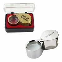 Magnifier Magnifying 30X Eye Glass Loupe Jeweler Watch Repair with Box Gold