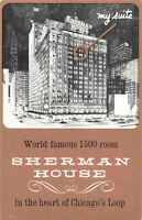Postcard The Sherman House Chicago