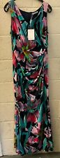 Gina Bacconi Gusta Floral Maxi Dress UK 18 EUR 44 REF DR19~