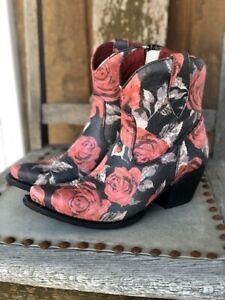 Ariat Women's Circuit Cruz Vintage Rose Snip Toe Ankle Boots 10031475