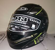 HJC CS-R3 Motorcycle Helmet Songtan Gray W/ HI-VIZ S MD LG XL 2XL Fullface DOT