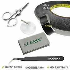 5mm x 50m Black Adhesive Tape Roll for iPhone iPad 1 2 3 4 iPod Samsung Tablet