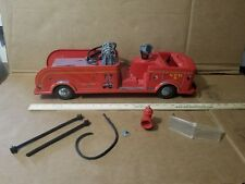 MARX LUMAR Pumper TRUCK FIRE DEPT TOY Vintage PRESSED STEEL