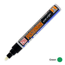 Zig Posterman Wet Wipe Marker - Medium - Green (Pack of 12)