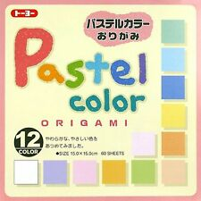 Japanese 60 Sheets 12 Light Pastel Color Origami Paper 6 inches #5350 S-3588